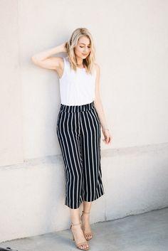 striped culottes | Love, Lenore