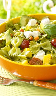 Tropical Pasta Salad - Pasta shapes are personal