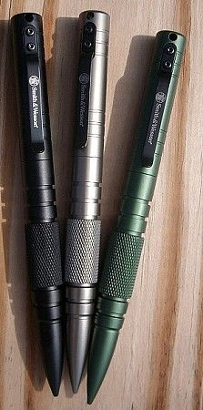 Although good, a solid steel or aluminium pen is likely to provoke a negative response from the police. Try a simple dry or permanent marker and some simple kubotan techniques.