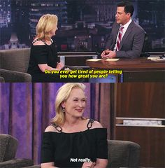 And showed that there's nothing wrong with liking yourself. | 17 Times Meryl Streep Was An Inspiration To Us All