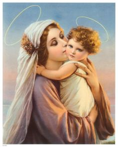 Madonna with child. Bad taste