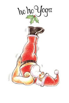 Christmas yoga fun with Santa .... #yoga #yogafun #yogacartoon #santa #fatherchristmas #christmas #yogalife #yogaworld #om #namaste