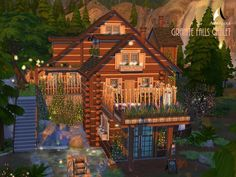 The Sims Resource: Granite Falls Chalet by AvenicciX • Sims 4 Downloads