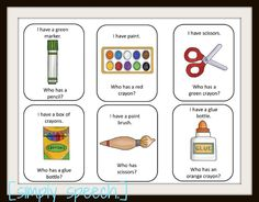 'I Have, Who Has? game - great for asking questions and learning school vocabulary