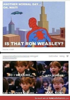 41 Ideas For Funny Harry Potter Things Ron Weasley Harry Potter Puns, Harry Potter Funny Quotes, Harry Potter Stories, Harry Potter Ron Weasley, Harry Potter Universal, Dc Memes, Marvel Memes, Sherlock, Funny Jokes