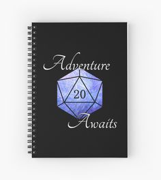 """Adventure Awaits!"" Roleplayer's Notebook by @Olooriel on Redbubble 