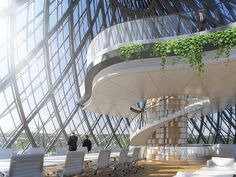 vincent callebaut has won an international competition to transform 'hotel des postes', a historic building in luxembourg city. Futuristic Architecture, Residential Architecture, Amazing Architecture, Architecture Design, Futuristic City, Luxembourg, Vincent Callebaut, Future Buildings, Urban Fabric
