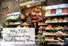 Friendly staff and good sales are a couple of reasons why I like shopping at my small grocery store