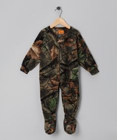 Take a look at this Trail Crest Green Camouflage Fleece Footie - Infant, Toddler & Kids on zulily today!