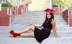 Senior Cap and Gown | Graduation poses | Pinterest
