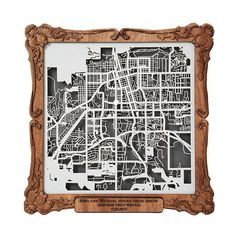 Commemorate the addresses of your loved ones' favorite places with custom, laser-cut street maps.