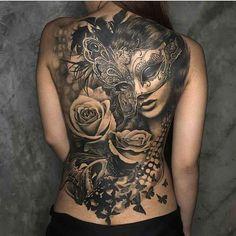 awesome back tattoo - Jenn Neo