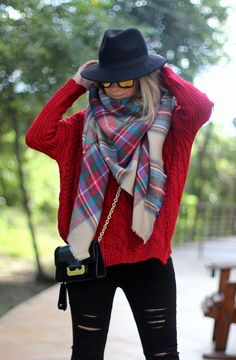 Bufanda de cuadros de Zara