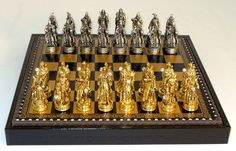The Game Supply - Fantasy Pewter Chess Set | Chess Piece Storage | Solid Pewter, $279.95 (http://www.thegamesupply.com/fantasy-pewter-chess-set-chess-piece-storage-solid-pewter/) #pewterchessset