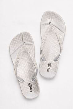 89d517aa3baa0 Capelli Pink (Molded Footbed Flip Flops with Bold Crystal Straps) Davids  Bridal
