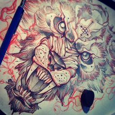#tattoo #sketch #wolf