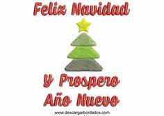 Bordado de Navidad: En esta publicación compartimos un lindoBordado con letras del Popular Frase,Feliz Navidad y Prospero Año Nuevo,Este diseño viene de