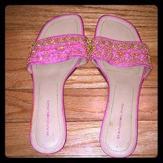 """Bandolino"" Shoes Size: 9M Chic. Good quality shoe. Pink with beading. Nice casual work shoe. Worn once. Size: 9M Bandolino Shoes"