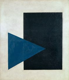 Kazimir Malevich, Suprematist painting: black rectangle, blue triangle. (1915)