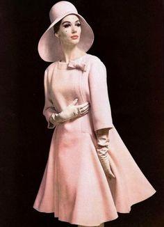 Model wearing Pierre Cardin, Spring 1961.
