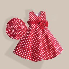Kid styles 507499451756580426 - Summer Girl Dress with Hat Red Dot Fashion Bow Girls Dresses Casual A-line Kids Clothes robe fille enfant Source by johnkartonline Toddler Dress, Baby Dress, The Dress, Toddler Girls, Baby Girls, Dress Red, Kids Girls, Dress Black, Little Girl Dresses