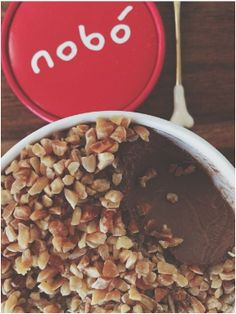 Chocolate and Toasted Almond Nobó! Dairy Free Ice Cream, Almond, Frozen, Good Things, Vegan, Chocolate, Breakfast, Food, Morning Coffee