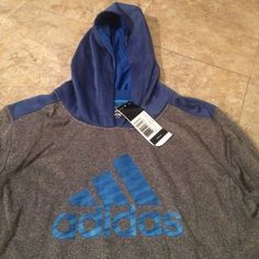 NWT Boys Adidas hoodie size large(14-16) This hoodie is new with tags. This hoodie was bought for $40 as shown in the pics. Just trying to get some of my money back. Adidas Tops Sweatshirts & Hoodies