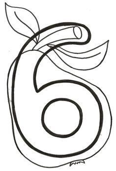 número seis pera Numbers Preschool, Preschool Printables, Preschool Worksheets, Teaching Math, Preschool Activities, Activities For Kids, Kindergarten Design, Preschool Coloring Pages, Cute Easy Drawings