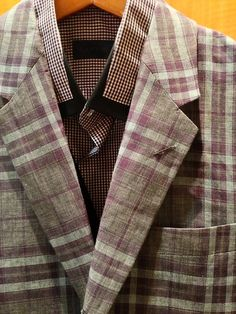 This sport coat from NHoolywood and shirt from Lanvin seem to be made for each other!