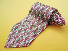 Gianni Versace Tie Pure Silk Ethnic Medusa Repeat Pattern Red Vintage Designer Dress Necktie Made In Italy by InPersona on Etsy