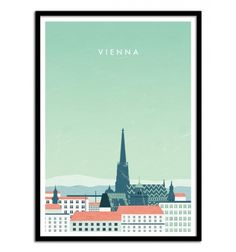 Design by Katinka Reinke. Art-Poster and prints published by Wall Editions. Poster On, Poster Wall, City Illustration, Travel Posters, Landscape Art, Vienna, Cities, Landscapes, Collections