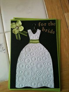 Scrapbooking card for the bride