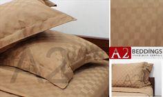 """Sprei dobby warna """"Coklat"""" ini terbuat dari katun dobby dengan motif kotak-kotak sangat halus dan lembut.  Terbuat dari 100% bahan dobby yang berkualitas memberikan nuasana baru dan kenyamanan tidur Anda sepanjang malam. Order dengan kode dengan kode SKD-206 dan hubungi 081381649865 49er, Bed Pillows, Pillow Cases, Sleep, Home, Pillows, Ad Home, Homes, Haus"""