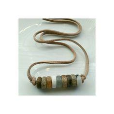 Matte heishi beads necklace  Ocean Jasper by SuperFantasticJulie