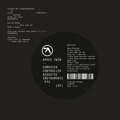 Aphex Twin - Computer Controlled Acoustic Instruments Part 2 EP on LP