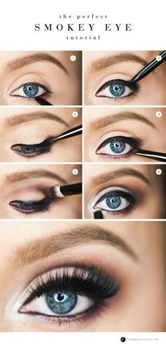Step by step instructions for how to achieve the perfect smokey eye...