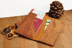 Passport Holder, Passport Case, Leather Passport Cover, Tan Leather, Classic, Simple, Minimal