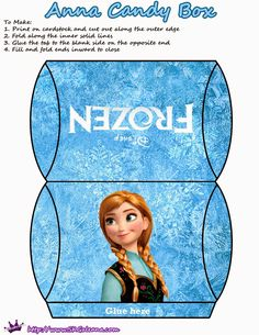 Frozen: Pretty Free Printable Pillow Boxes.