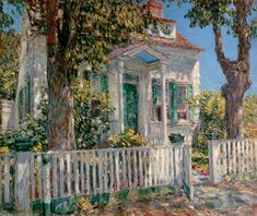 "thusreluctant: ""Colonial Cottage, Cos Cob by Childe Hassam """