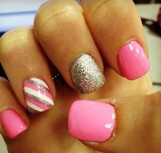 24. A Little Different - 24 Fancy Nail Art Designs That You'll Love Looking at All Day Long ... → Beauty