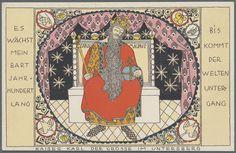 """Berthold Löffler """" Kaiser Karl der Grosse im Untersberg"""", Ausruf : 200.00 Euro, WW 919 ,"""
