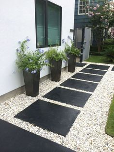 Because you have a small garden, it doesn't want to work a lot. A small garden can be very exotic with just a little planning. Improving a beautiful modern garden [ … ] Contemporary Garden Design, Landscape Design, House Landscape, Landscape Architecture, Small Garden Design Ideas Low Maintenance, Low Maintenance Backyard, Small Front Yard Landscaping, Landscaping Ideas, Backyard Ideas