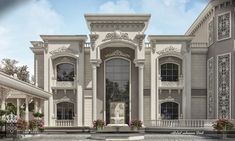 West Golf Villa is part of Classic house design - Architecture,Autodesk Max,Vray,Adobe Photoshop Classic House Exterior, Classic House Design, House Front Design, Dream Home Design, Modern House Design, Fachada Colonial, House Plans Mansion, Beautiful Home Designs, Modern Mansion