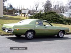One of the few menacing sedans I wouldn't mind using as a car beater. V.  (Shown: 1972 Dodge Coronet)