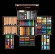 100 Year Anniversary Edition by Faber Castell Caran D'ache, Cute School Supplies, Faber Castell, Copics, Drawing Tools, Room Organization, Art Studios, Colored Pencils, Markers