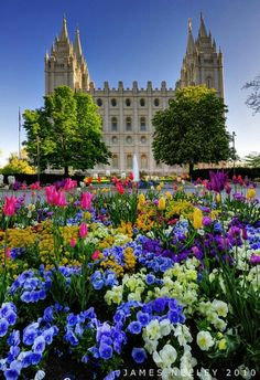 LDS temple square during spring. Can't wait to go here! Bring on 2014!  We love Temples at: www.MormonFavorites.com