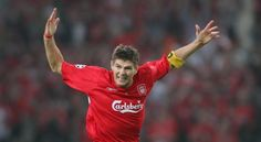 A tribute to Steven Gerrard as he captains Liverpool for the time - Liverpool FC This Is Anfield Steven Gerrard Liverpool, Liverpool Captain, Liverpool Football Club, Liverpool Fc, Stevie G, France Football, This Is Anfield, European Soccer, European Cup
