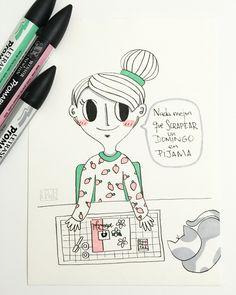 Como buena scrapera... (Ilustración de Lorena Penknives)