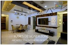 Home interior design for manish thakkar modern living room by kam's designer zone modern Pvc Ceiling Design, Ceiling Design Living Room, False Ceiling Living Room, Living Room Designs, House Ceiling, Ceiling Plan, Ceiling Ideas, Ceiling Lights, Kids Interior
