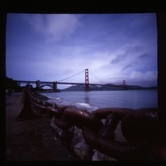 Pinhole photo Golden Gate bridge